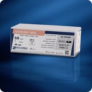 GLYCOLON® violet DSM16 USP 5/0 70 cm (24 stuks/doos)
